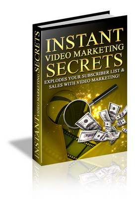 Product picture Instant video marketing secrets-driving traffic